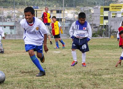 Help een sportproject in Ecuador