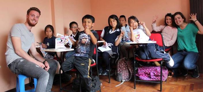 Foto's Quito Ecuador vrijwilligers