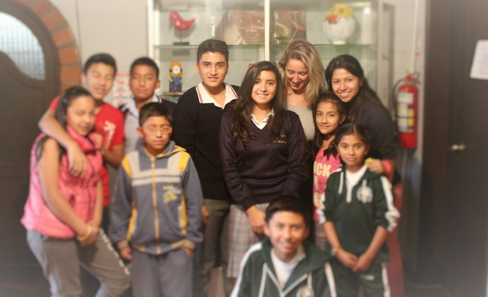 English student in Ecuador about her experience with our volunteer work