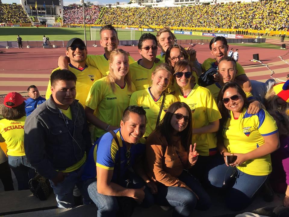 Foto vrijwilligers Ecuador-Peru