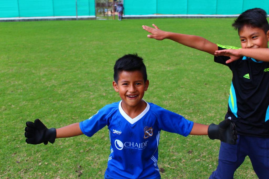 Voetbalschool in Ecuador
