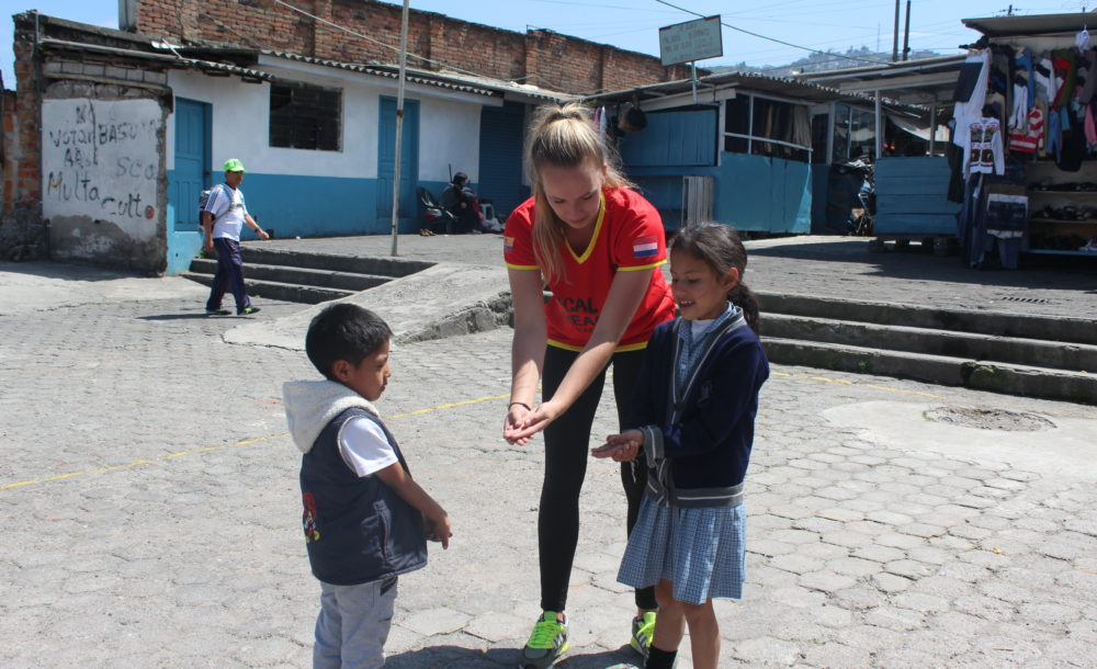 Volleybal pilot in Quito