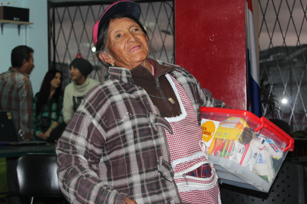 Kerstactie in Quito
