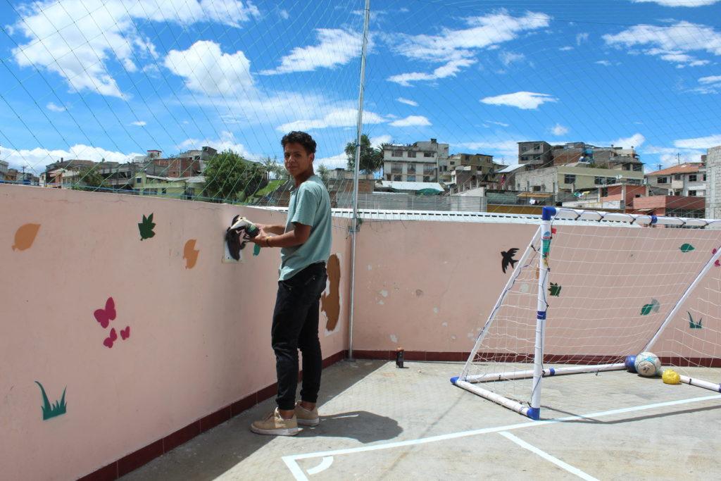 Ecuadoraans vrijwilliger Joseph